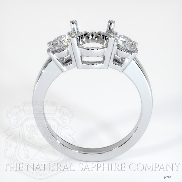 3 Stone Ring Setting - Round Diamonds JS790 Image 4