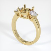 14K Yellow Gold Ring Setting - JS790Y14