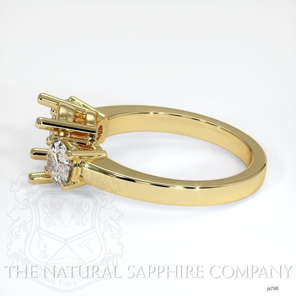 3 Stone Ring Setting - Round Diamonds JS790 Image 3