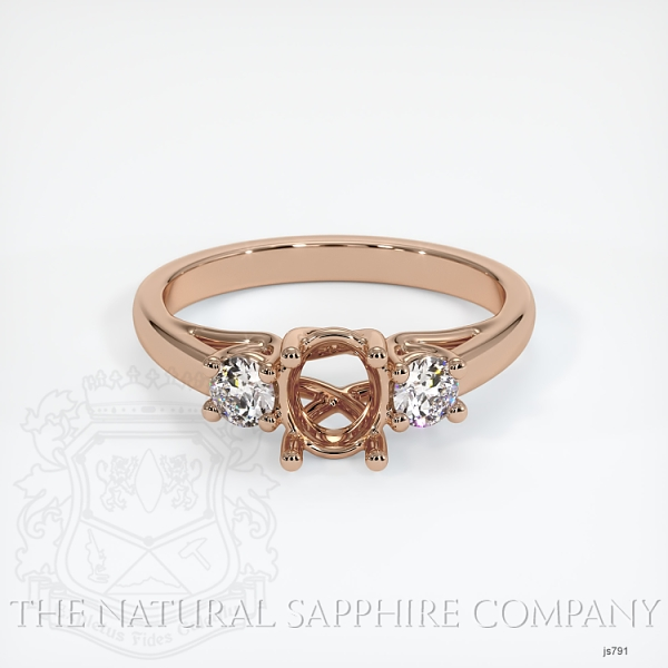 Trellis 3 Stone Ring Setting - Round Diamonds JS791 Image 2
