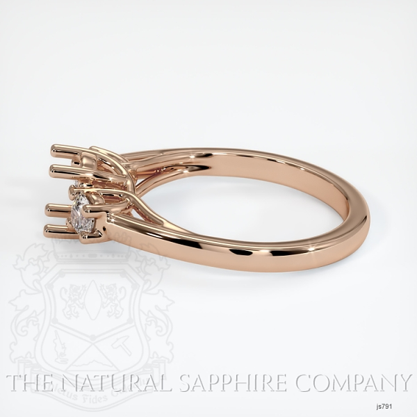 Trellis 3 Stone Ring Setting - Round Diamonds JS791 Image 3