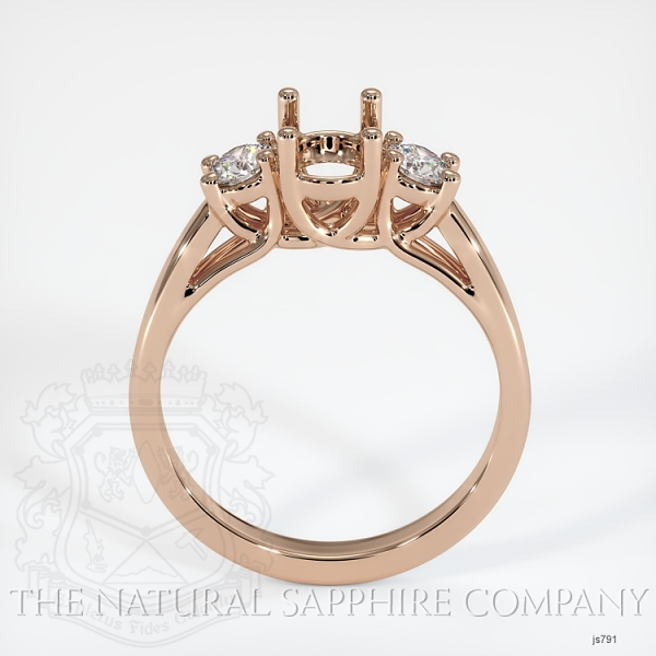 Trellis 3 Stone Ring Setting - Round Diamonds JS791 Image 4