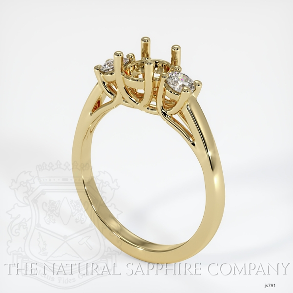 Trellis 3 Stone Ring Setting - Round Diamonds JS791 Image