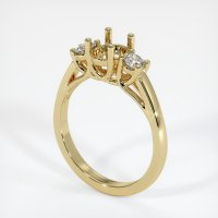 14K Yellow Gold Ring Setting - JS791Y14