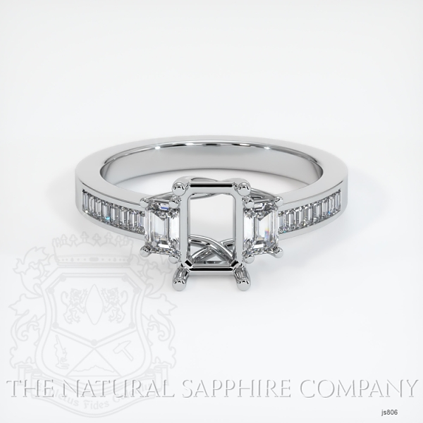 4 Prong Multi Stone Wedding Setting JS806 Image 2