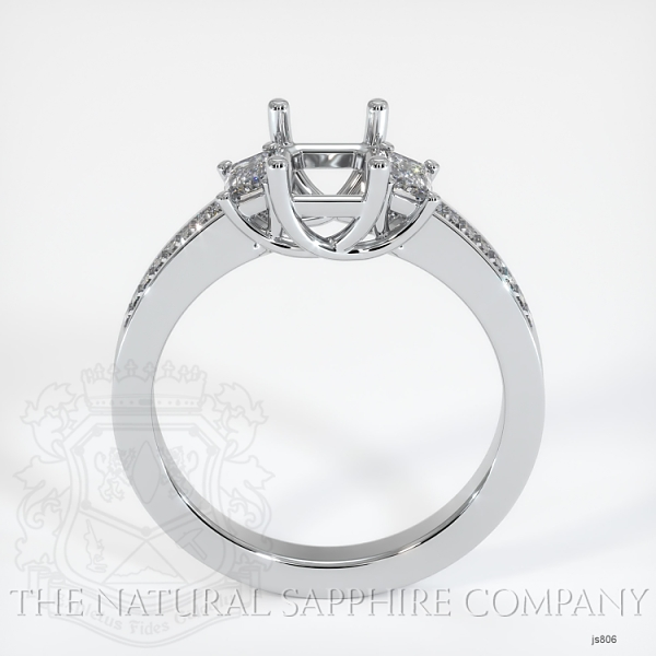 4 Prong Multi Stone Wedding Setting JS806 Image 4