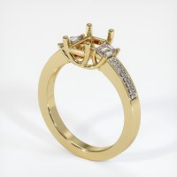 14K Yellow Gold Ring Setting - JS806Y14