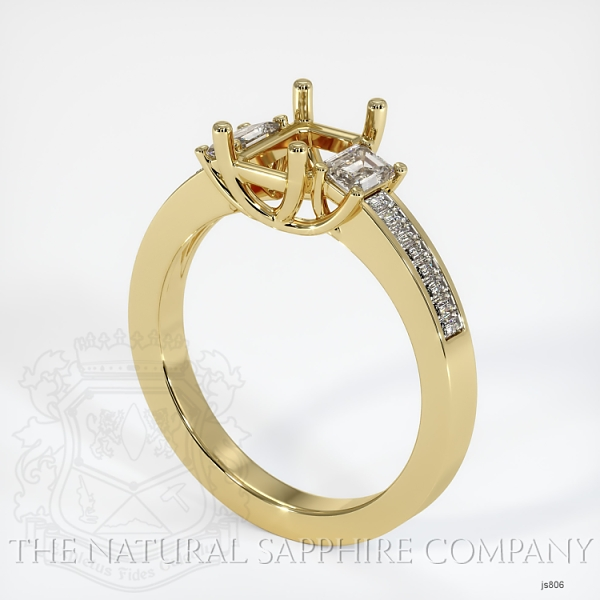 4 Prong Multi Stone Wedding Setting JS806 Image