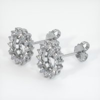 Platinum 950 Earring Setting - JS807PT