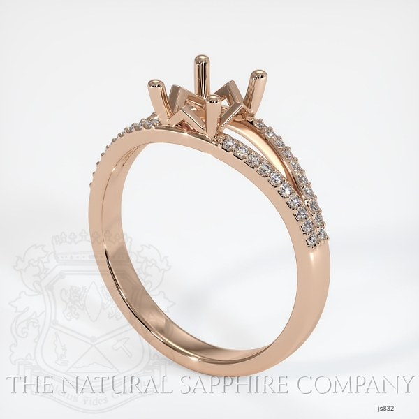 4 Prong Pave Ring Setting JS832 Image