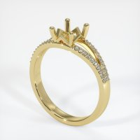 18K Yellow Gold Pave Diamond Ring Setting - JS832Y18
