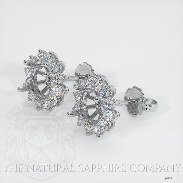 4 Prong Halo Diamond Earring Setting JS838 Image