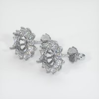 Platinum 950 Earring Setting - JS838PT