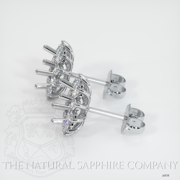 4 Prong Halo Diamond Earring Setting JS838 Image 2