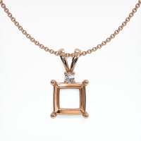 14K Rose Gold Pendant Setting - JS840R14