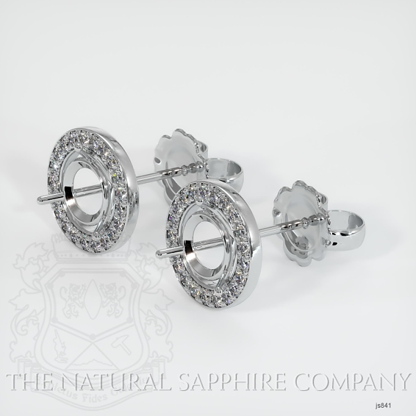 4 Prong Pave Earring Setting (Studs) JS841 Image