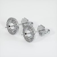 Platinum 950 Pave Diamond Earring Setting - JS841PT