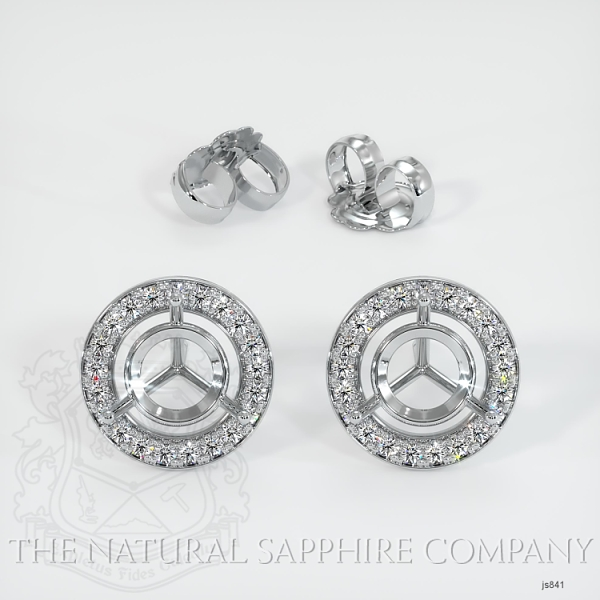 4 Prong Pave Earring Setting (Studs) JS841 Image 3