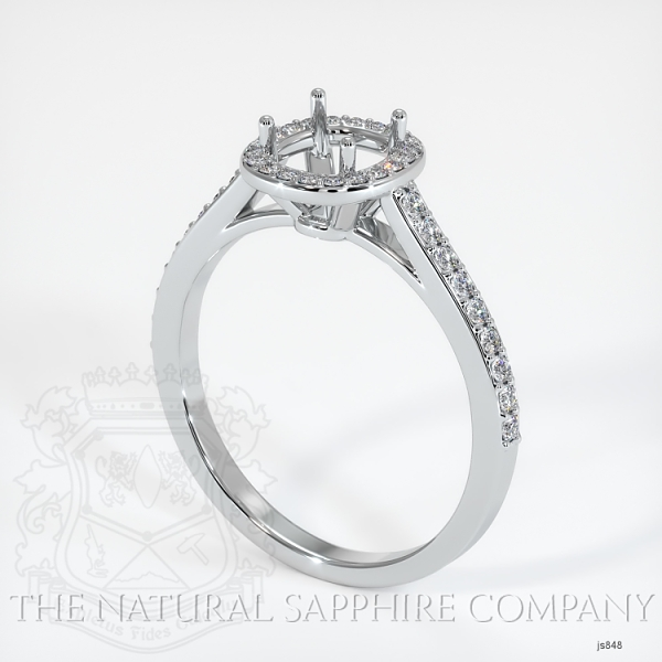Pave Diamond Halo Ring Setting JS848 Image