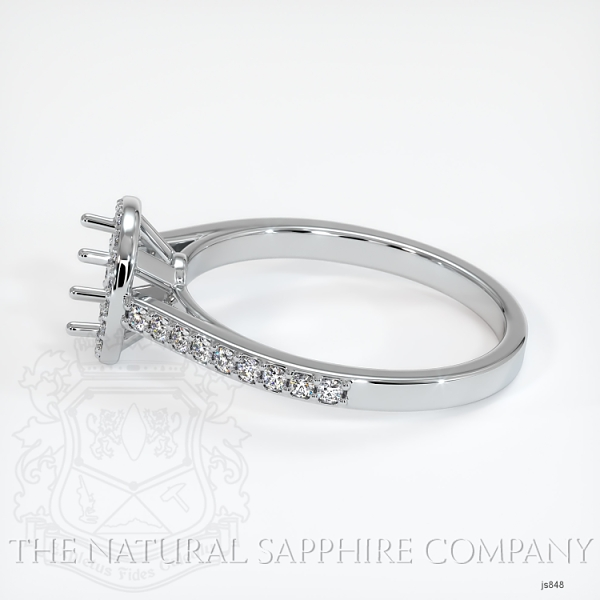 Pave Diamond Halo Ring Setting JS848 Image 3