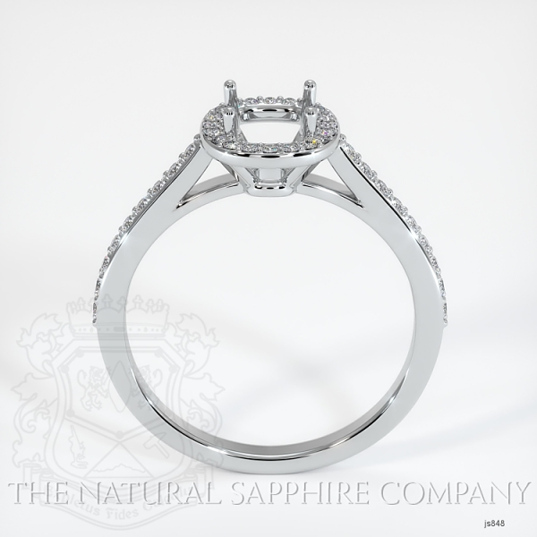 Pave Diamond Halo Ring Setting JS848 Image 4