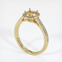 14K Yellow Gold Pave Diamond Ring Setting - JS848Y14