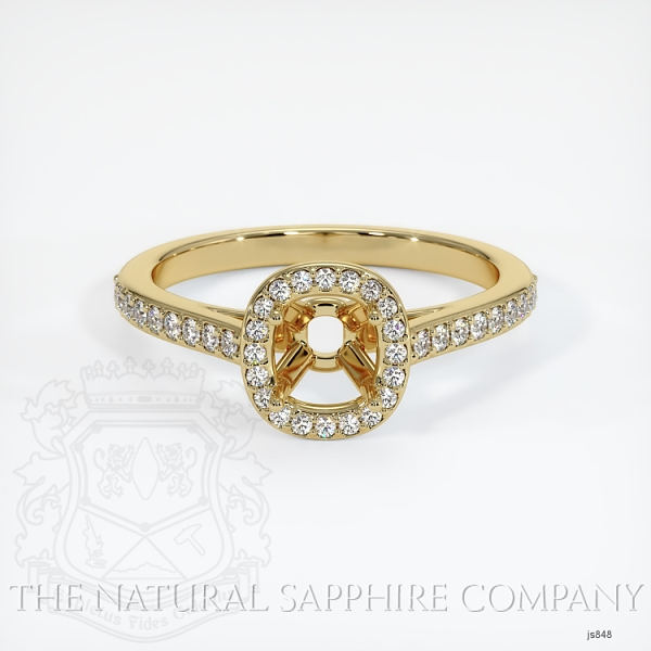 Pave Diamond Halo Ring Setting JS848 Image 2