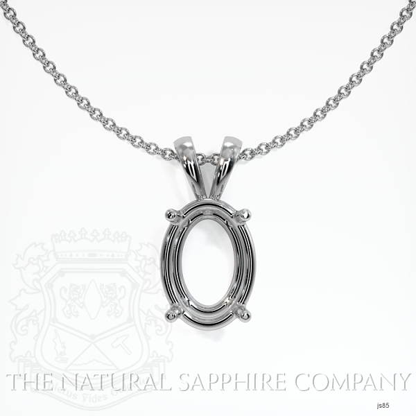4 Prong Oval Shape Solitaire Pendant Setting JS85 Image