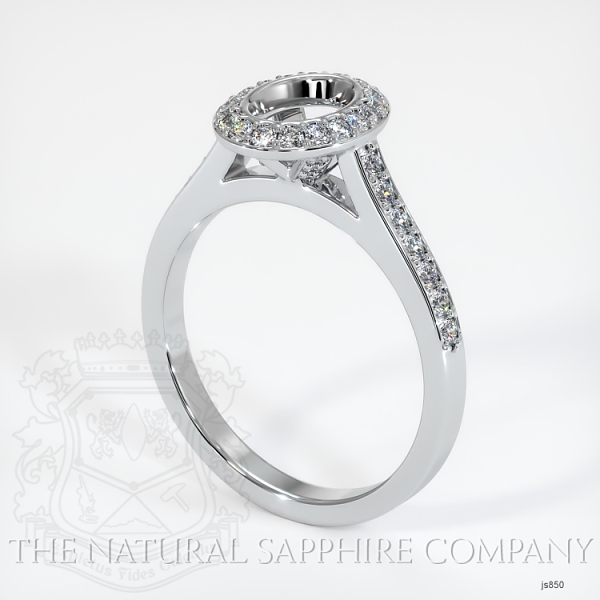 Bezel Set Pave Diamond Halo Ring Setting JS850 Image