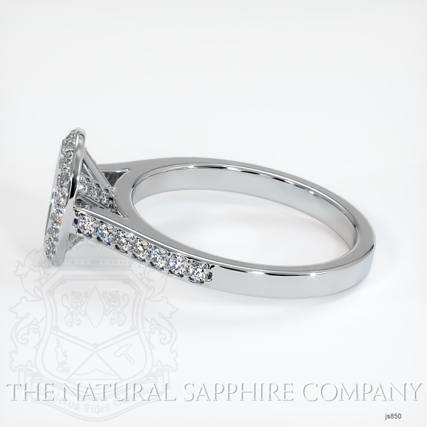 Bezel Set Pave Diamond Halo Ring Setting JS850 Image 3