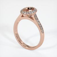 14K Rose Gold Pave Diamond Ring Setting - JS850R14