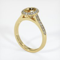 18K Yellow Gold Pave Diamond Ring Setting - JS850Y18