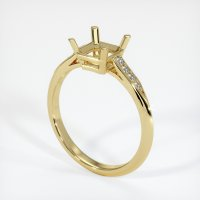 18K Yellow Gold Pave Diamond Ring Setting - JS851Y18