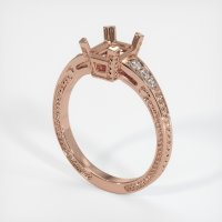 14K Rose Gold Pave Diamond Ring Setting - JS852R14