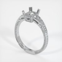 18K White Gold Pave Diamond Ring Setting - JS852W18