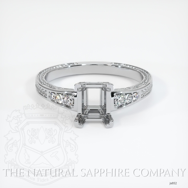 Vintage Solitaire Ring Setting JS852 Image 2