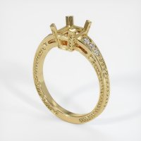 14K Yellow Gold Pave Diamond Ring Setting - JS852Y14