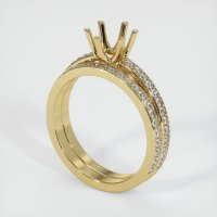 14K Yellow Gold Pave Diamond Ring Setting - JS854Y14