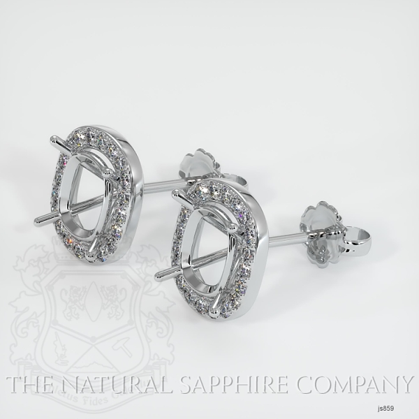 4 Prong Fishtail Earring Setting (Studs) JS859 Image