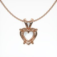 14K Rose Gold Pendant Setting - JS86R14