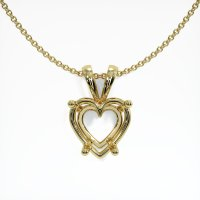 18K Yellow Gold Pendant Setting - JS86Y18