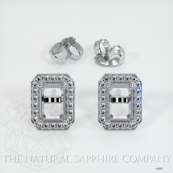 4 Prong Pave Earring Setting JS860 Image 3
