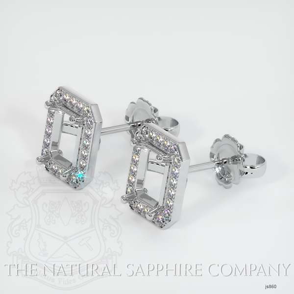4 Prong Pave Earring Setting JS860 Image