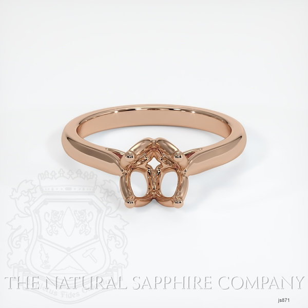 4 Prong Flower Petal Solitaire Ring Setting JS871 Image 2