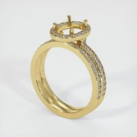 18K Yellow Gold Pave Diamond Ring Setting - JS876Y18