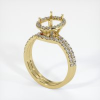 18K Yellow Gold Pave Diamond Ring Setting - JS879Y18
