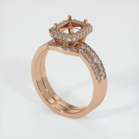 18K Rose Gold Pave Diamond Ring Setting - JS880R18
