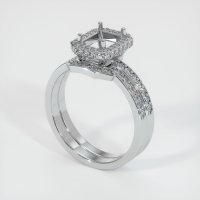 18K White Gold Pave Diamond Ring Setting - JS880W18