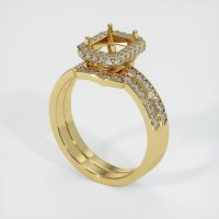 18K Yellow Gold Pave Diamond Ring Setting - JS880Y18