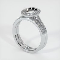 18K White Gold Pave Diamond Ring Setting - JS884W18